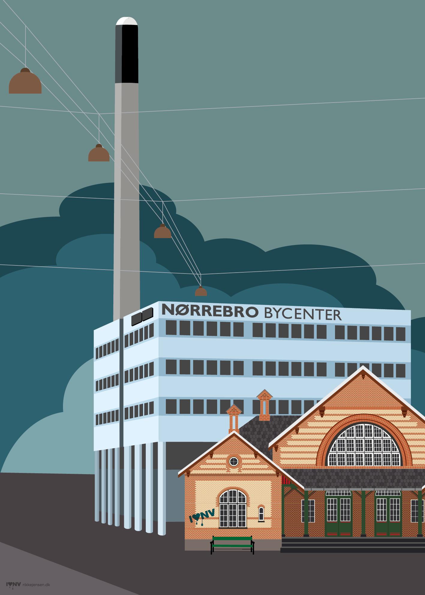 I ♥ NV - Nordvest plakat Nørrebro Bycenter og Lygten