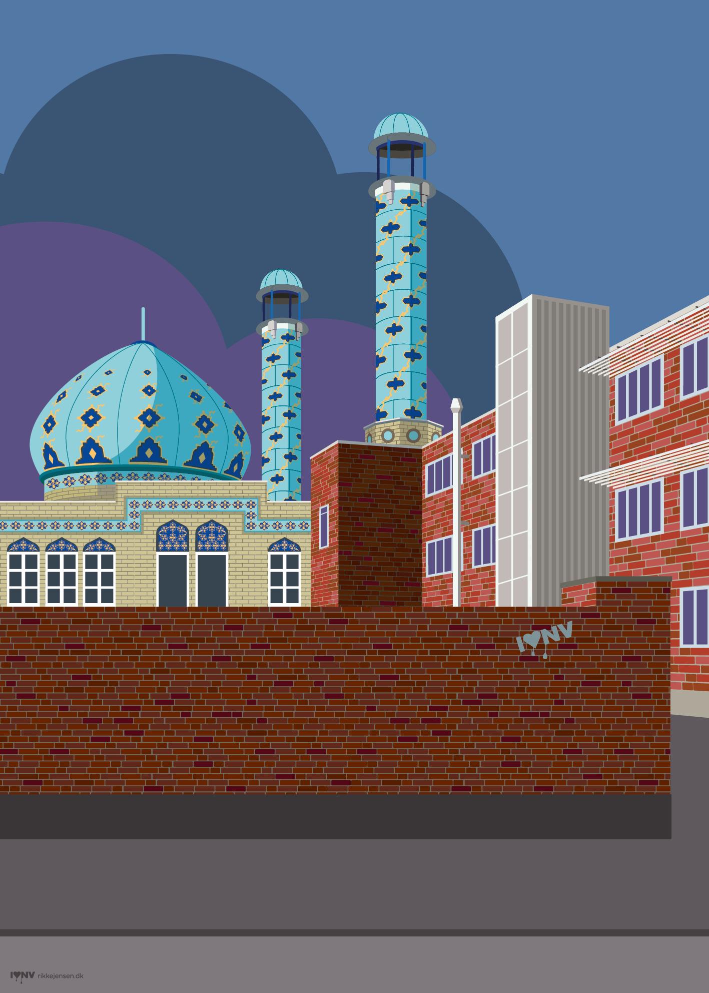 I ♥ NV - Nordvest plakat Vibevej Imam Ali Moske