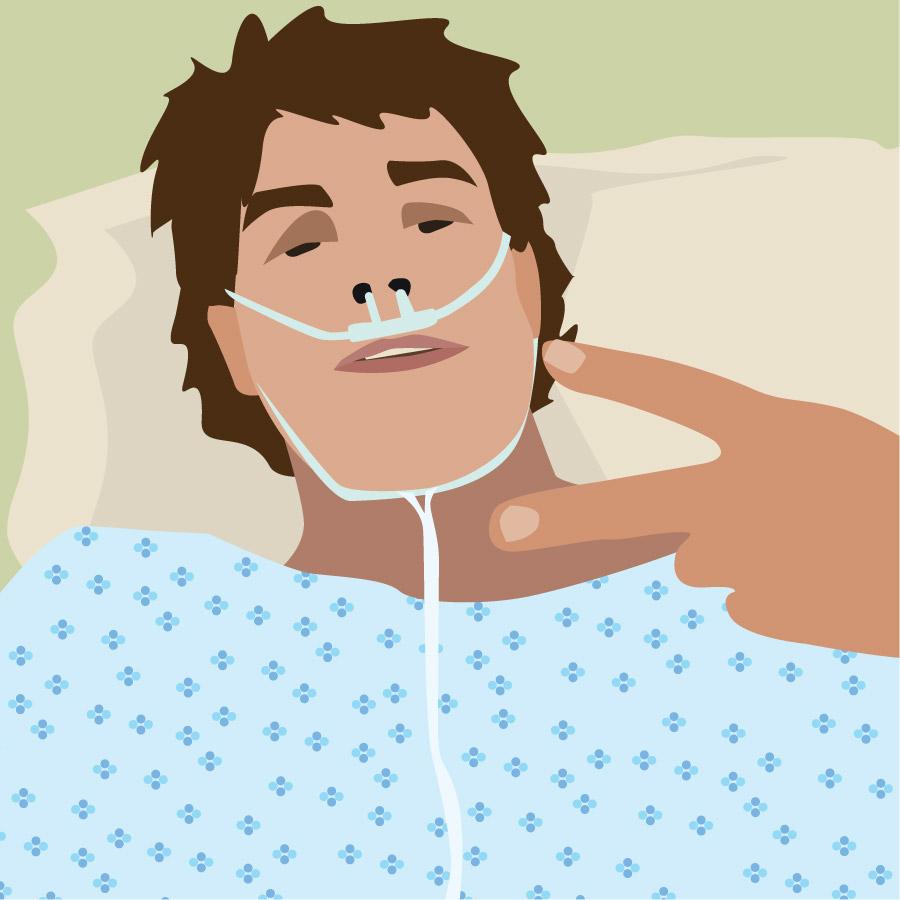 Sebastian på hospitalet
