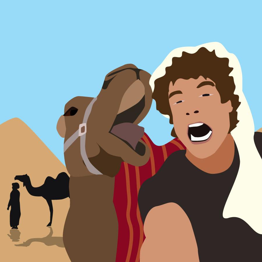 Sebastian med beduiner