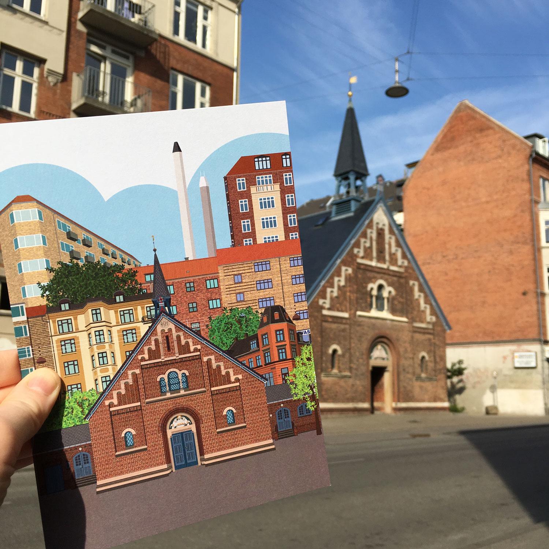 Kapernaumskirken postkort