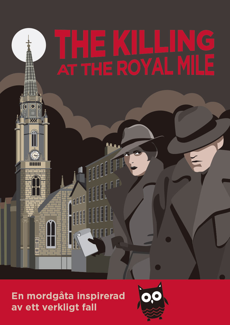 Illustrationer Solve a Mystery Royal Mile